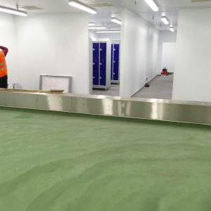 New resin flooring at a food factory in Bow, London