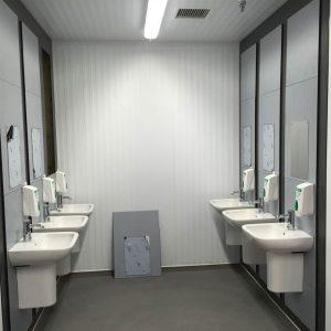 Staff hand wash basins.