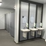 WC facilities in a food factory located in Bow, East London