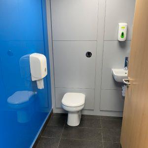 Hygienic wall cladding at the Toilet facilites at Cranswick Foods, Hull