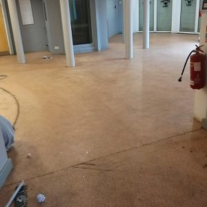 Cleethorpes Discovery Centre flooring pre transformation.