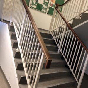 Staircase in Hull pre refurbishment