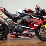 FSC sponsored motorbike of Jordan Rushby of Alliance Steel Racing